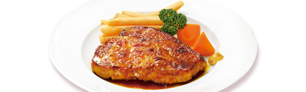 国産豚ポークロースステーキ